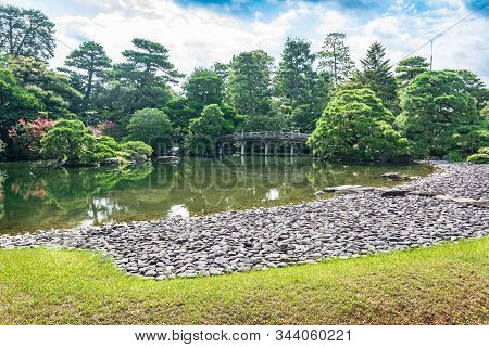 Kyoto,japan, Asia - September 3, 2019 : View Of The Kyoto Gosho Imperial Palace Garden