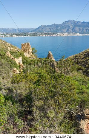 Ruins On Altea Bay