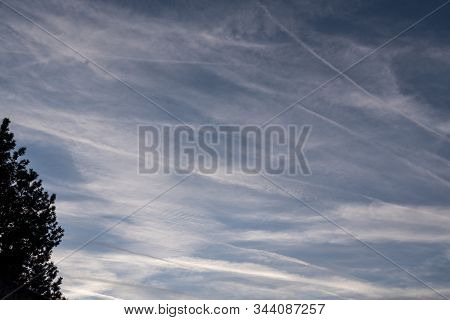 Contrails Or Air Pollution - Signs Of Meteorology And Climate