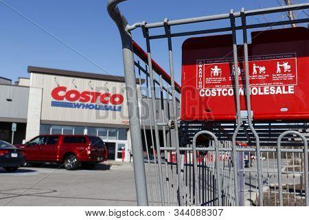 Indianapolis - Circa January 2020: Costco Wholesale Location. Costco Wholesale Is A Multi-billion Do
