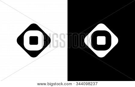 Initial Square Letter O Logo With Modern Typography Vector Template. Creative Abstract Letter O Logo
