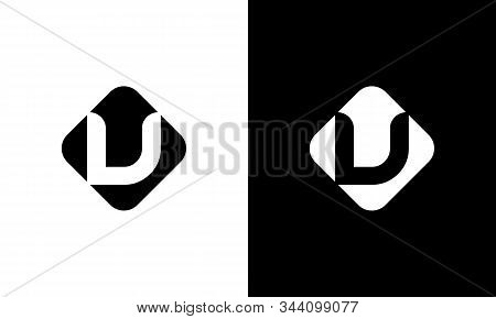 Initial Square Letter V Logo With Modern Typography Vector Template. Creative Abstract Letter V Logo