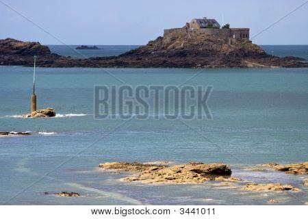 Fortified Island Off Dinard