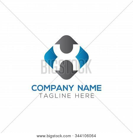 Initial Square Letter X Logo With Modern Typography Vector Template. Creative Abstract Letter X Logo