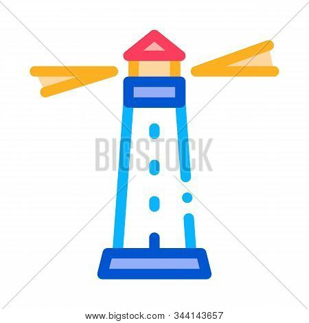 Lighthouse Beacon Icon Vector. Outline Lighthouse Beacon Sign. Isolated Contour Symbol Illustration