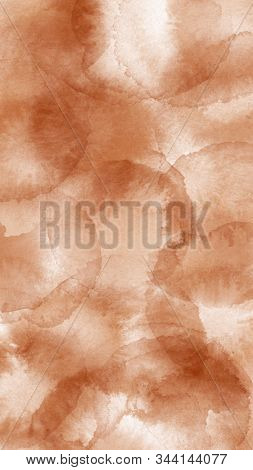 Abstract Watercolor Brawn Spots. Decorative Background For Stories, Fabric, Banners, Cards And Invit