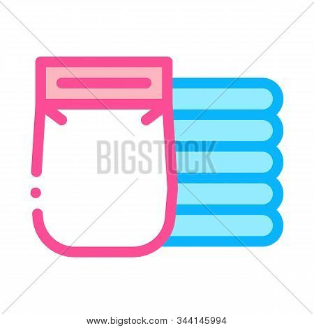 Diapers Heap Icon Vector. Outline Diapers Heap Sign. Isolated Contour Symbol Illustration