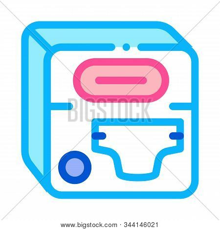 Diaper Device Icon Vector. Outline Diaper Device Sign. Isolated Contour Symbol Illustration
