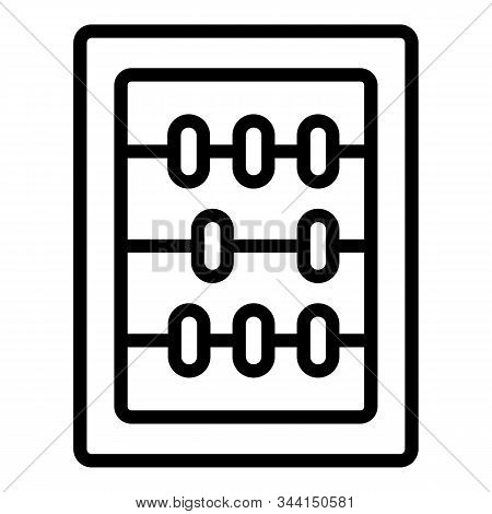 Wood Abacus Icon. Outline Wood Abacus Vector Icon For Web Design Isolated On White Background