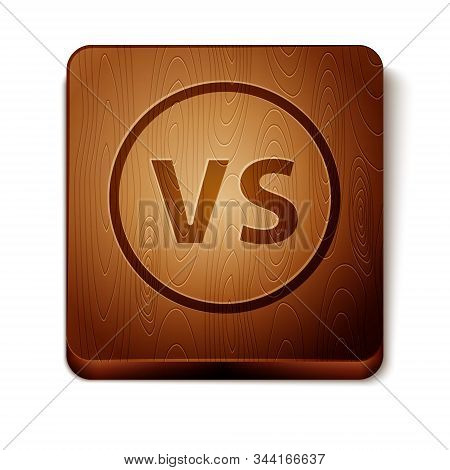 Brown Vs Versus Battle Icon Isolated On White Background. Competition Vs Match Game, Martial Battle