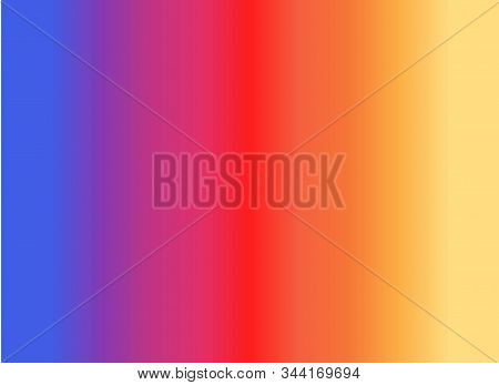 Abstract Background Of Strips Of Purple Pink Red Orange Yellow Worse On Shelf Of Books Vector Illust