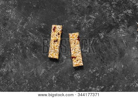 Anti-age Snacking, Healthy Food. Snak Products With Anti-aging Ingridients. Whole-cereal Fitness Bar