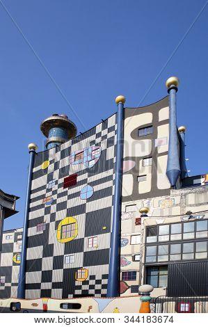 Famous Hundertwasser Architecture Building Spittelau Trash Incineration Factory