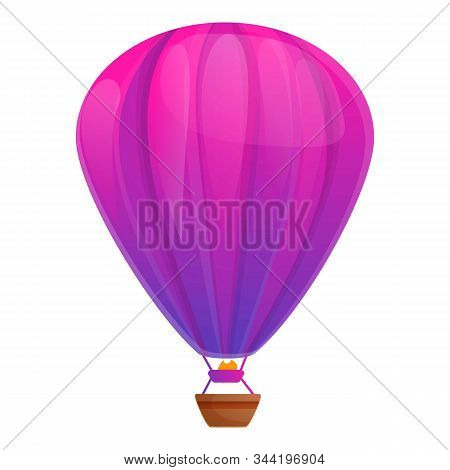 Helium Air Balloon Icon. Cartoon Of Helium Air Balloon Vector Icon For Web Design Isolated On White