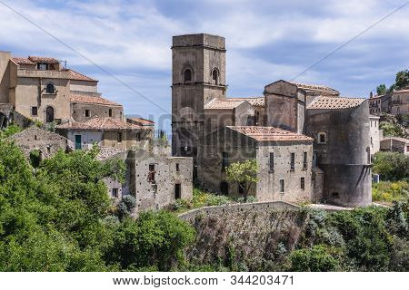 Mother Church In Savoca, Small Village On Sicily Island, Italy