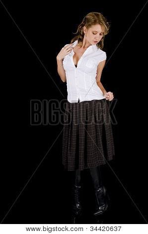 Innocent-looking Young Woman Posing Seductively