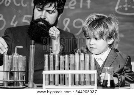 Cognitive Skills. Chemistry Experiment. Teacher Child Test Tubes. Cognitive Process. Kids Cognitive