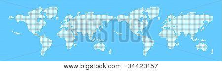 Vector, world map, Bitmap
