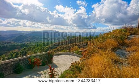 View On Pano Platres In Troodos Mountains, Cyprus