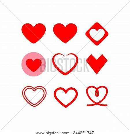 Love Hearts Icon Vector In Modern Flat Style For Web, Graphic And Mobile Design. Love Hearts Icon Ve