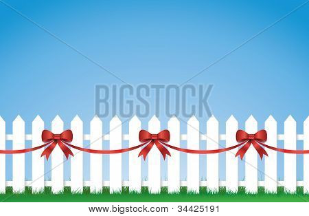 Bow Tied Picket fence