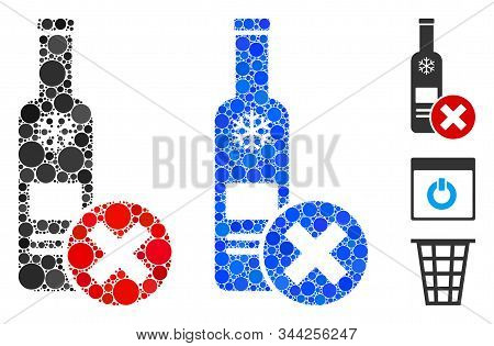 Stop Vodka Drinking Mosaic Of Small Circles In Variable Sizes And Color Tints, Based On Stop Vodka D