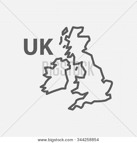 Uk Icon Line Symbol. Isolated Vector Illustration Of Icon Sign Concept For Your Web Site Mobile App