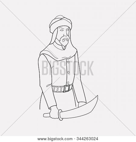 Traditional Arabian Icon Line Element. Vector Illustration Of Traditional Arabian Icon Line Isolated