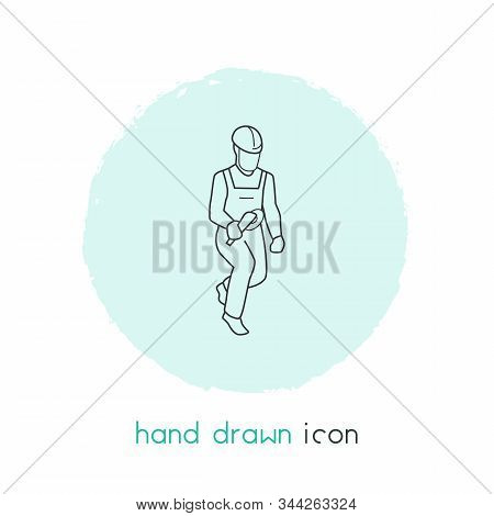 Locksmith Icon Line Element. Vector Illustration Of Locksmith Icon Line Isolated On Clean Background