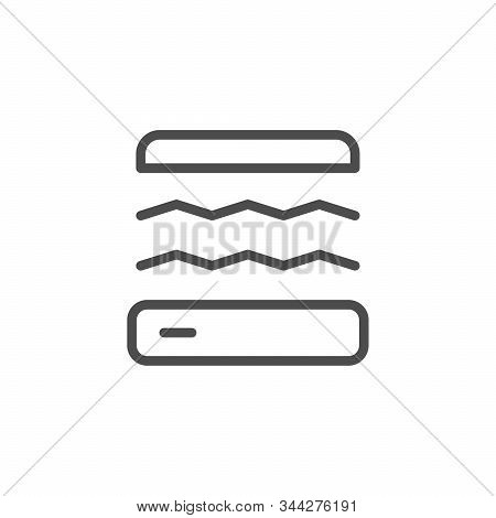 Safety Glass Fixation Line Icon Isolated On White Background. Sticker Screen Protector On Smartphone