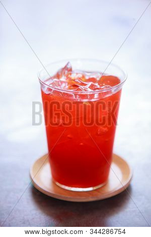 Thai Aromatic Tea, Refreshing Soft Drink To Get Rid Of Thirst With Sweet Aroma From Lime And Cooling