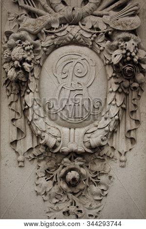 Royal Monogram Of King Edward Vii Of Great Britain Or The Royal Cypher Of King Edward Vii, An Intert