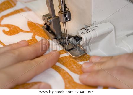 Overlook Sewing Machine In Use