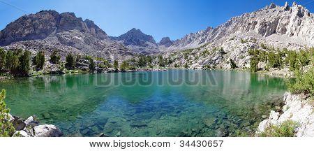 Sierra Mountain Lake Panorama