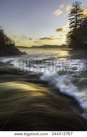Light Glowing On The Waves At Indian Lake Adirondacks New York
