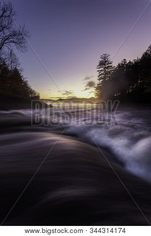 Flowing Waves On Indian Lake Adirondacks New York