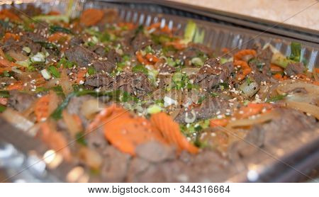 Korean Beef And Vegetables In Serving Tray
