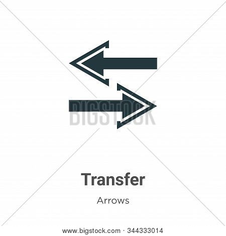 Transfer icon isolated on white background from arrows collection. Transfer icon trendy and modern T