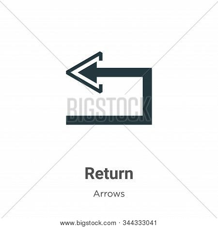Return icon isolated on white background from arrows collection. Return icon trendy and modern Retur