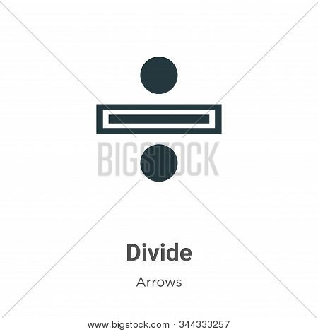Divide icon isolated on white background from arrows collection. Divide icon trendy and modern Divid