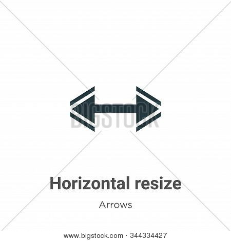Horizontal Resize Vector Icon On White Background. Flat Vector Horizontal Resize Icon Symbol Sign Fr