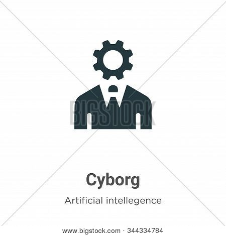 Cyborg icon isolated on white background from artificial intellegence and future technology collecti