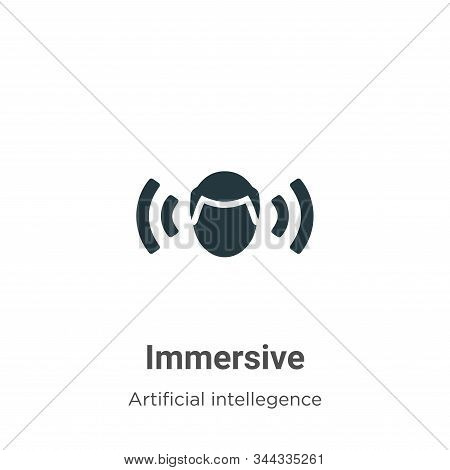 Immersive icon isolated on white background from artificial intellegence and future technology colle
