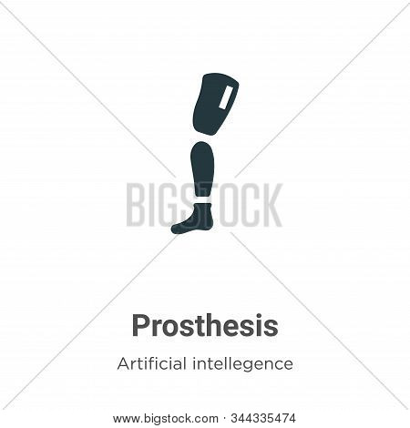 Prosthesis icon isolated on white background from artificial intellegence and future technology coll