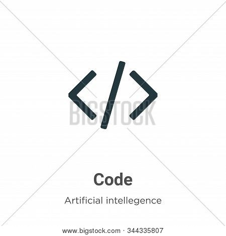 Code icon isolated on white background from artificial intelligence collection. Code icon trendy and