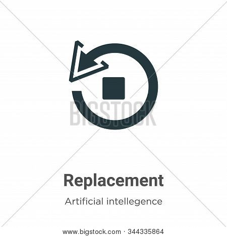 Replacement icon isolated on white background from artificial intelligence collection. Replacement i