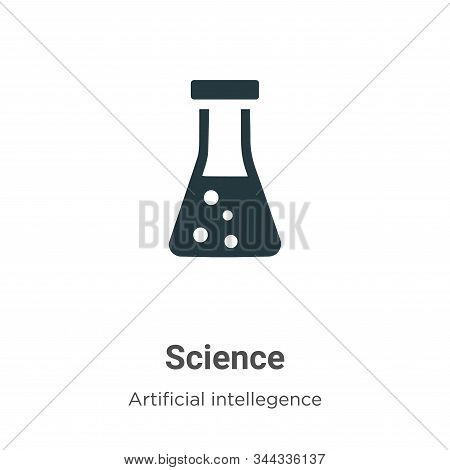 Science icon isolated on white background from artificial intelligence collection. Science icon tren