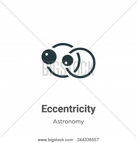Eccentricity icon isolated on white background from astronomy collection. Eccentricity icon trendy a