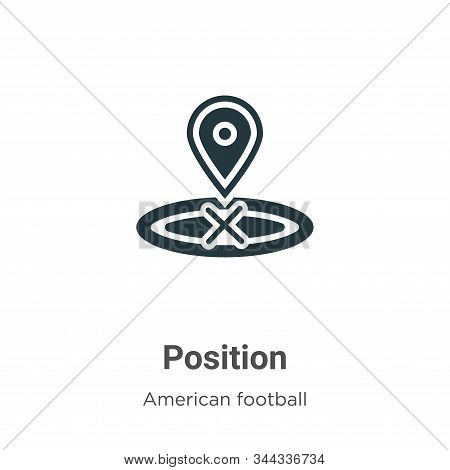 Position icon isolated on white background from american football collection. Position icon trendy a