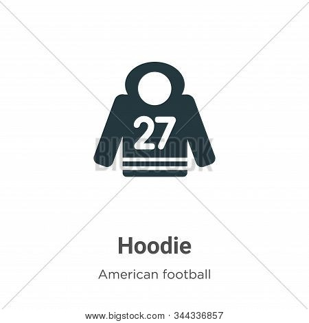 Hoodie icon isolated on white background from american football collection. Hoodie icon trendy and m